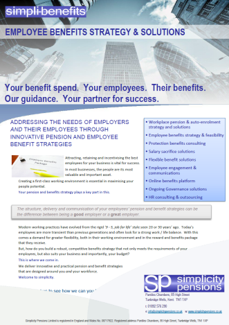 simplicity-Employee Benefits Consulting Brochure